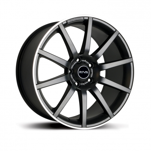 BNZ RIVA ALLOY WHEEL IN GLOSS BLACK WITH POLISHED LIP